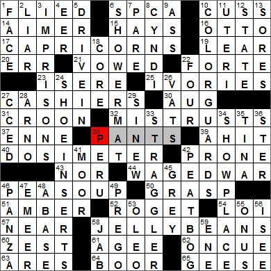 Los Angeles Times Crossword Solutions 12 22 11