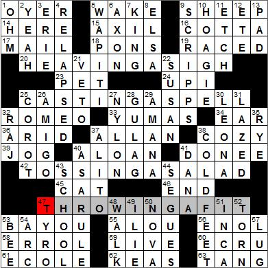 Los Angeles Times crossword puzzle solutions 1 3 12