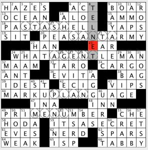 Evan Kalishs New York Times Crossword Jim Qs Write Up