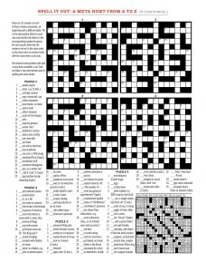 photo relating to Washington Post Crossword Puzzle Printable named Sunday, August 12, 2018 Diary of a Crossword Fiend