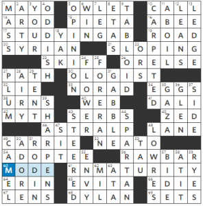 Thursday, August 9, 2018 | Diary of a Crossword Fiend