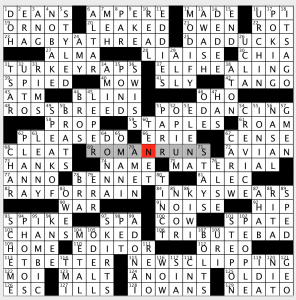 Sunday September 23 2018 Diary Of A Crossword Fiend