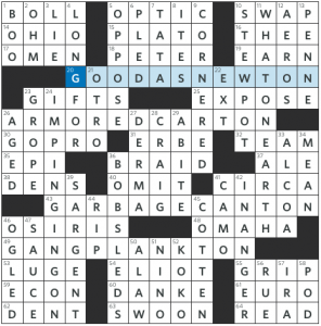 Worth its weight in gold wsj crossword