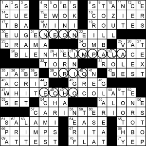 graphic about La Times Sunday Crossword Printable named Wednesday, January 16, 2019 Diary of a Crossword Fiend