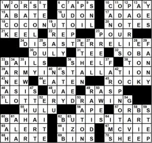 Friday March 8 2019 Diary Of A Crossword Fiend