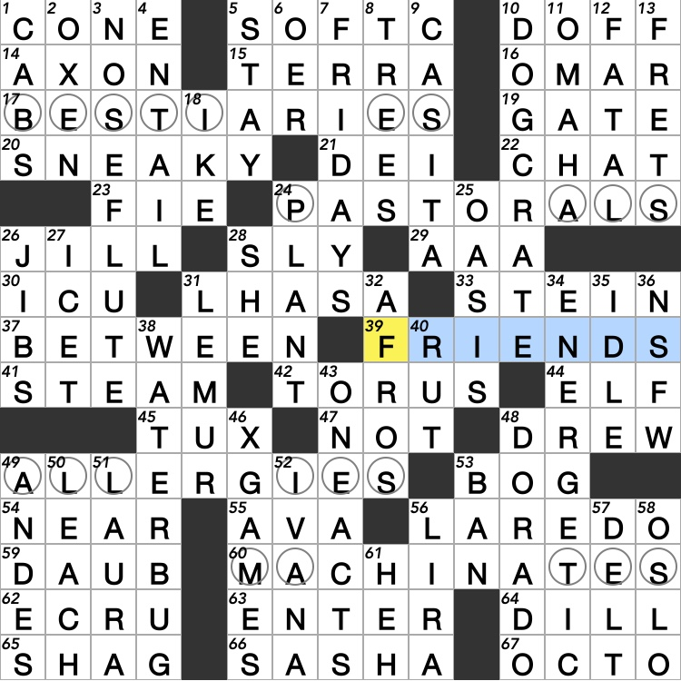Thursday August 1 2019 Diary Of A Crossword Fiend