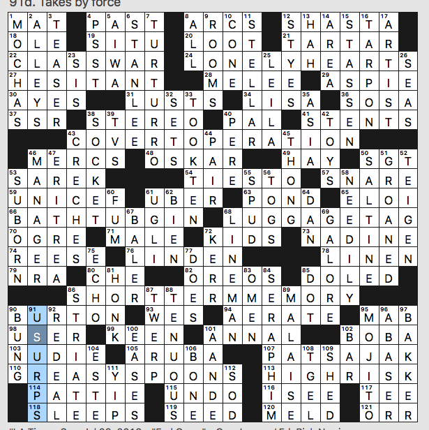 image about La Times Crossword Printable named Sunday, July 28, 2019 Diary of a Crossword Fiend