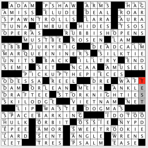 picture regarding Washington Post Crossword Puzzle Printable identified as Sunday, August 25, 2019 Diary of a Crossword Fiend