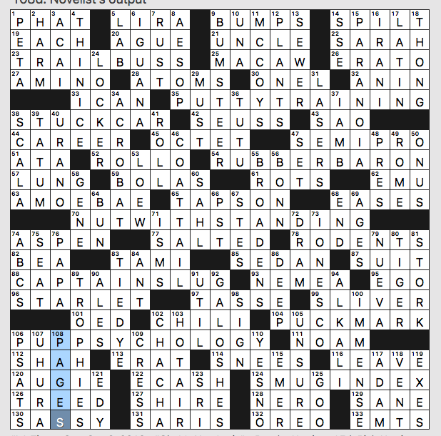 Sunday September 8 2019 Diary Of A Crossword Fiend