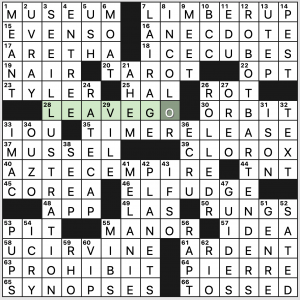 Saturday October 19 2019 Diary Of A Crossword Fiend