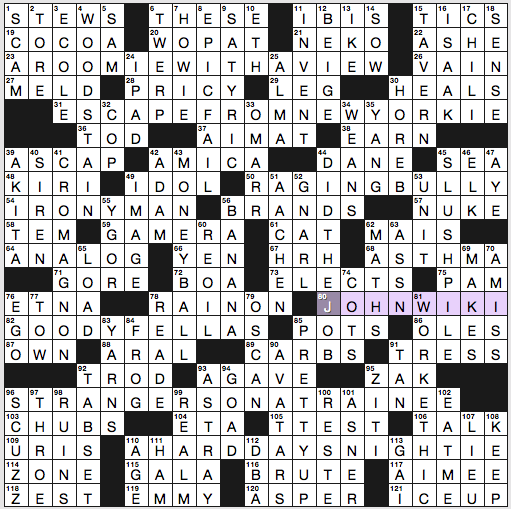 Sunday November 3 2019 Diary Of A Crossword Fiend