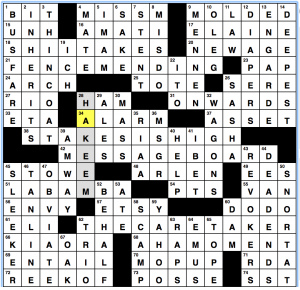 Wednesday December 4 2019 Diary Of A Crossword Fiend