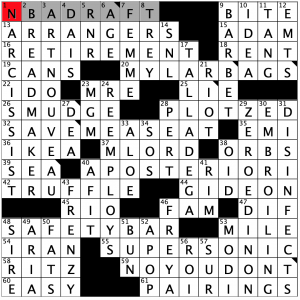 Saturday January 25 2020 Diary Of A Crossword Fiend