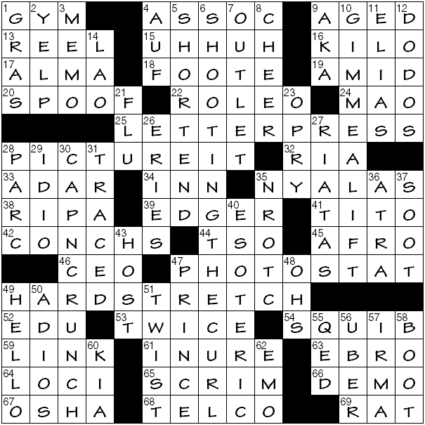 Friday January 31 2020 Diary Of A Crossword Fiend