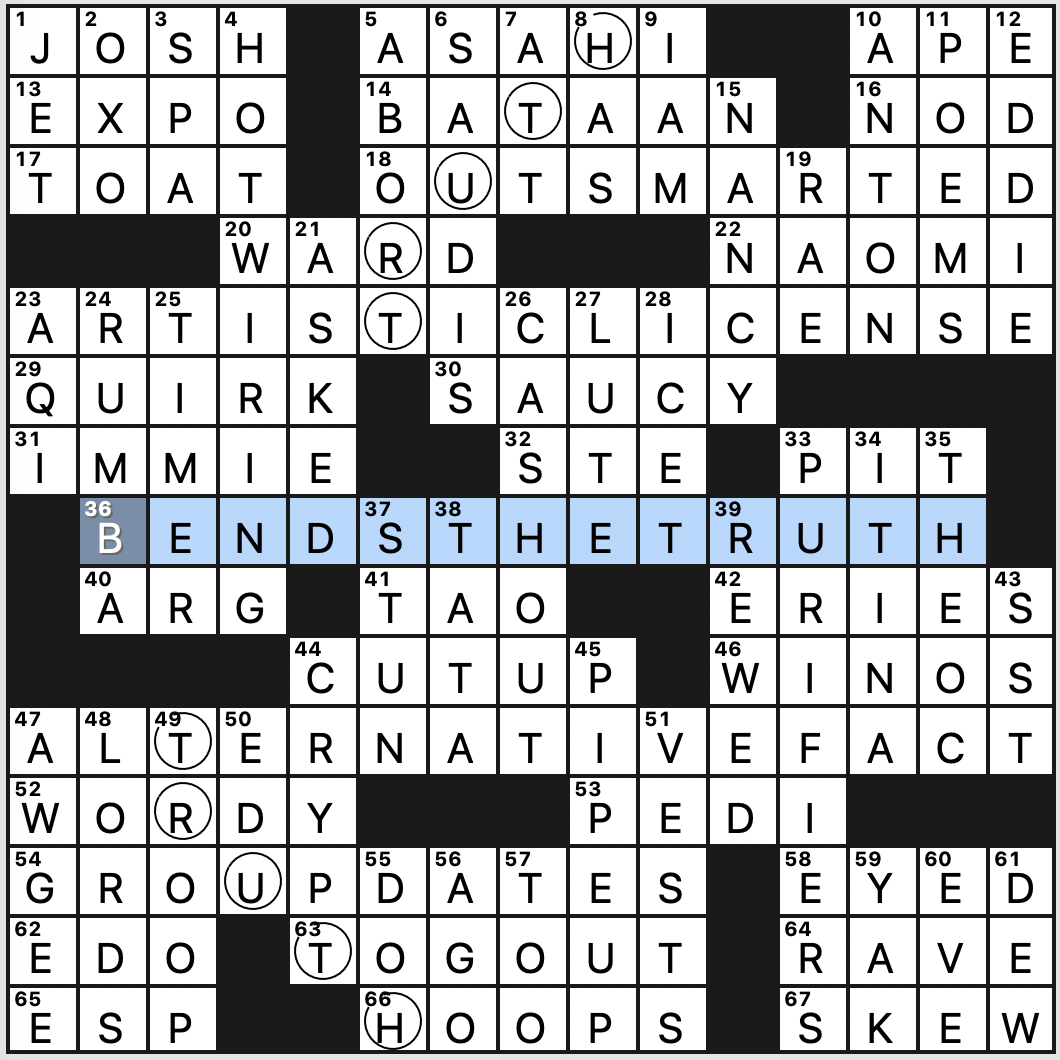 Thursday June 25 2020 Diary Of A Crossword Fiend