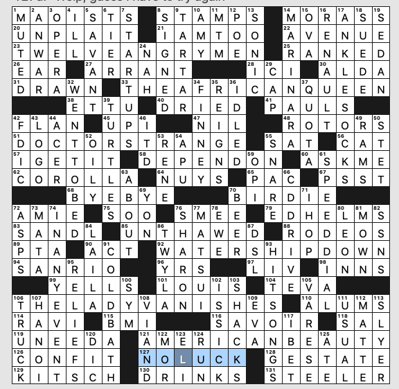 Sunday August 16 2020 Diary Of A Crossword Fiend
