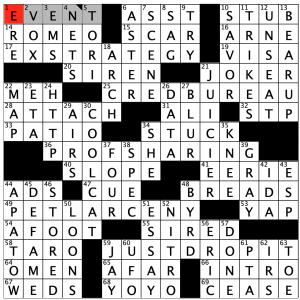 Saturday September 19 2020 Diary Of A Crossword Fiend