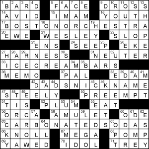 The New York Times Crossword In Gothic December 2009