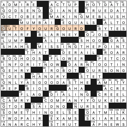 Sunday October 4 2020 Diary Of A Crossword Fiend