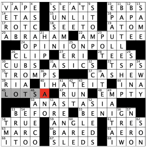 Saturday January 30 2021 Diary Of A Crossword Fiend