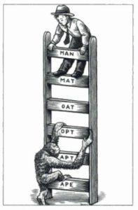 Word ladder illustration by Gregory Nemec