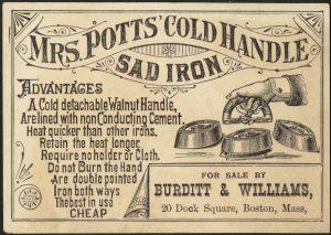 Mrs. Potts' Cold Handle Sad Iron
