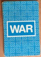 """Back of robot-themed """"War"""" card deck"""